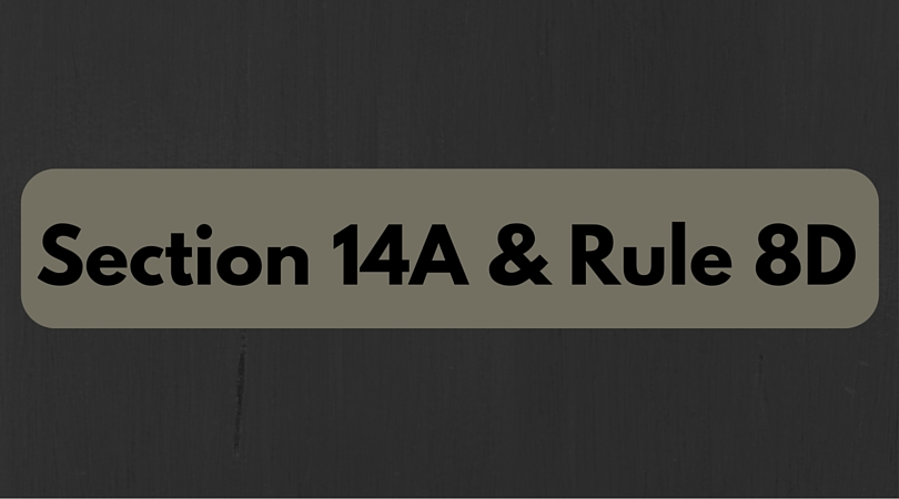 Amendments to rule 8D