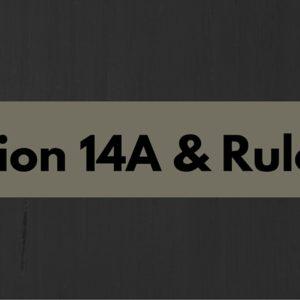 Amendments to rule 8D